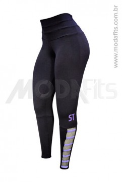 Calça Legging Modeladora Salto Triplo Supplex 35014.002