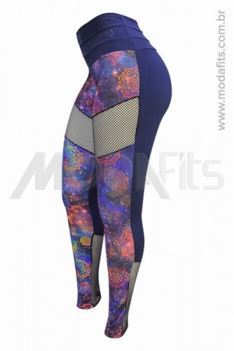 Calça Legging Modeladora Salto Triplo Supplex 35020.124