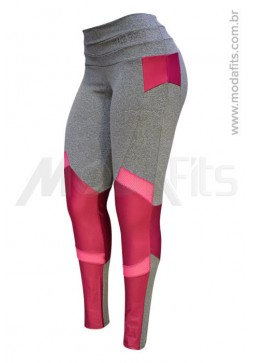 Calça Legging Modeladora Salto Triplo Supplex 35051.034