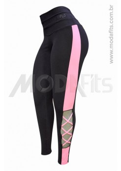 Calça Legging Modeladora Salto Triplo Supplex 35153-002