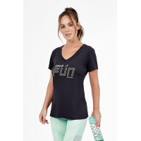 T-shirt Alto Giro Skin Fit Make It Fun Preta - 2011738