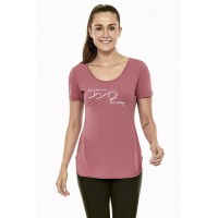 T-Shirt Alto Giro Skin Fit Inspiracional Rosa Antique - 2021704