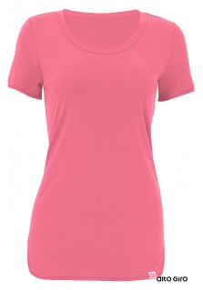 T-Shirt Alongada Alto Giro Skin Fit - 911702 Rosa Crush
