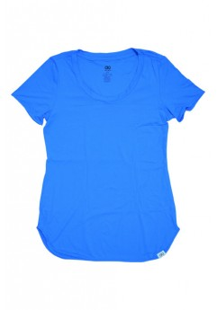 T-Shirt Alongada Alto Giro Skin Fit - 931702 Azul Energy