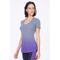 T-Shirt Alto Giro Skin Fit  Degradê Mescla - 931721