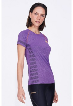 T-Shirt Alto Giro Connect Light Running Roxa  - 931722