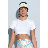 T-Shirt Cropped Alto Giro Light AG On Branco - 942701