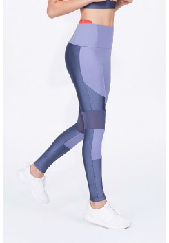 Calça Legging Alto Giro Atlanta Recortes Light Grafite Estelar - 932317