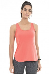 Regata Alto Giro Skin Fit Alongada Coral Peach - 2031602