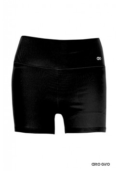 Shorts Alto Giro Supplex Termo Alta Compressão Preto - 101018