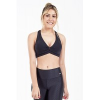 Top Alto Giro Supplex Nadador Preto - 101505