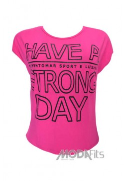 Blusa Elemento Mar Have a Strong Pink e Preto - FT61M/38