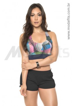 Short Boxer Estilo do Corpo Mandala Light - 8103 Preto