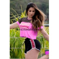 Blusa Cropped Oxyfit Game - 46464 Rosa