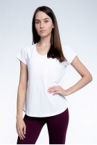 Blusa Rolamoça Alongada Moving Sport Dry - 01352 Branca