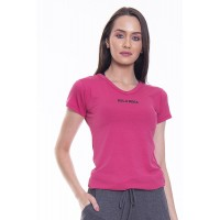 Baby Look Rolamoça Viscose Rosa - 30105-RS09