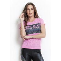 Baby Look Rolamoça Effect Rosa - 30134-RS14SBF590