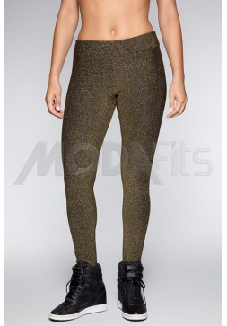 Calça Legging Rolamoça Fit Metal Gold - 06118-PT
