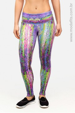 Calça Legging Rolamoça Supplex Estampada - 06125 DG105