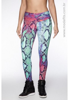 Calça Legging Rolamoça Supplex Estampada - 06125 DG28