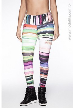Calça Legging Rolamoça Supplex Estampada - 06125 DG34