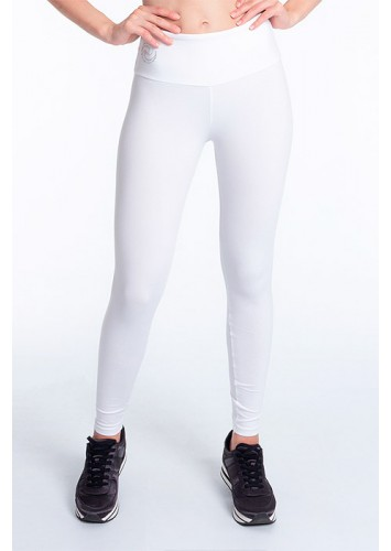 Calça Legging Rolamoça Supplex Alta Compressão Branca - 06304-BC