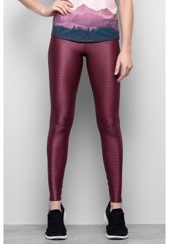 Calça Legging Rolamoça Action Fit Cirre - 06331 Bordo