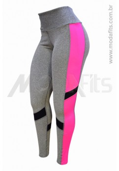 Calça Legging Rolamoça Supplex - 06389- Mescla