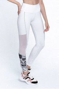 Calça Legging Rolamoça Supplex -06393 Branca