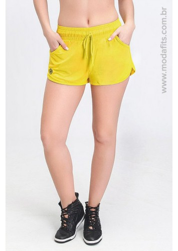 Short Rolamoça Ultracool Fit 12100 Amarelo 17