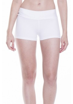 Short Rolamoça Alta Compressão Supplex 12106 Branco