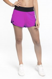 Short Rolamoça Duplo Ultracool Fit Preto 12166-RX13PT