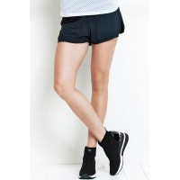 Short Rolamoça Duplo Ultracool Fit Preto 12190-PT