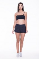 Short Rolamoça Duplo Ultracool Fit Preto - 12209-PT