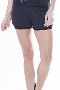 Short Rolamoça Duplo Ultracool Fit Preto - 12227-PT