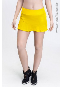 Short Saia Rolamoça Ultracool Fit 18145 Amarelo