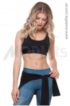 Top Rolamoça Aqua Fit -04168-PT- Preto