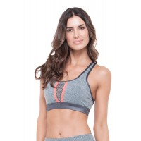 Top Rolamoça Supplex Mescla - 04299-ME73LJ02