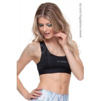Top Rolamoça Aqua Fit - 04107-PT Preto